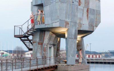 Bastun à Frihamnen, un sauna aux allures futuristes