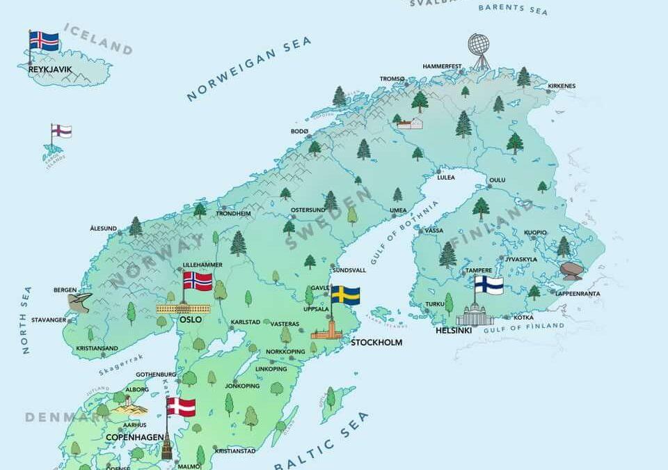 Scandinavie ou pays nordiques : quelle différence et comment s'en souvenir ?