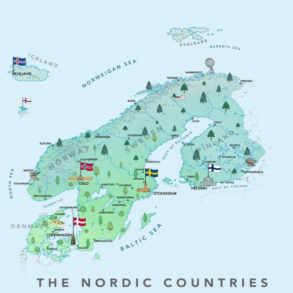 carte-pays-nordiques-scandinavie-difference