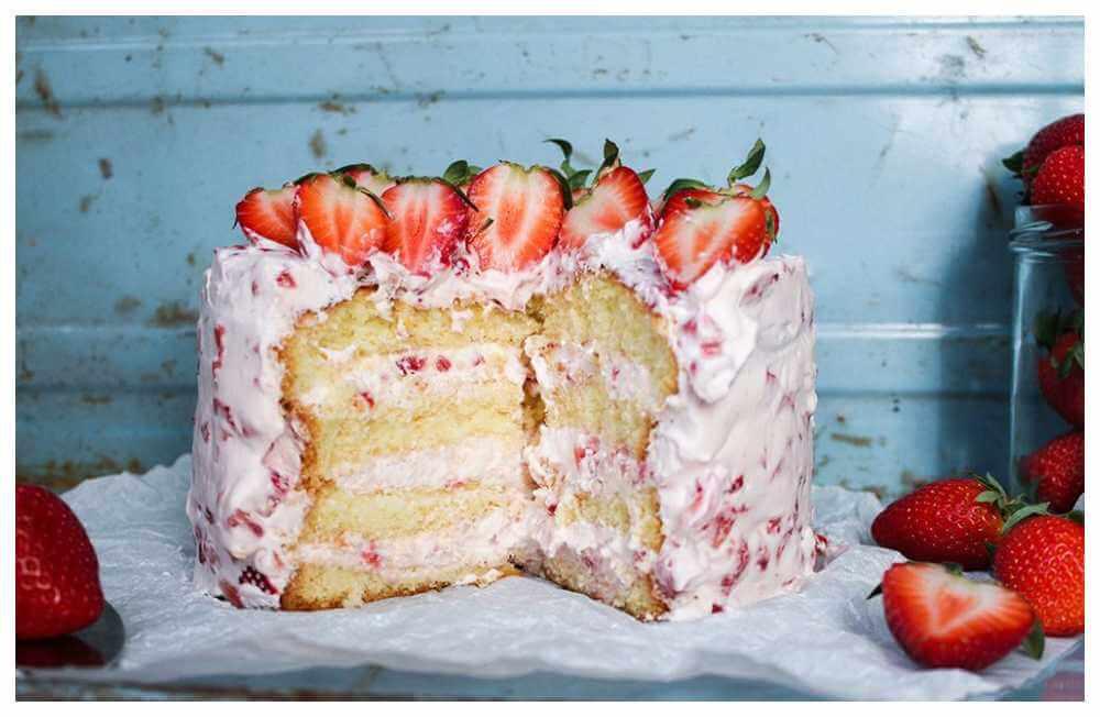 recette-gateau-fraises-traditionnel
